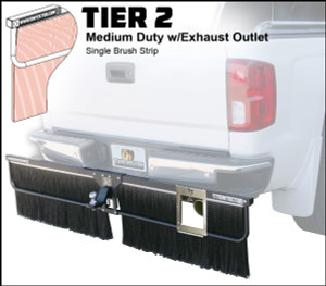 Tier 2 (Medium Duty Single Brush Strip With Exhaust Outlet)