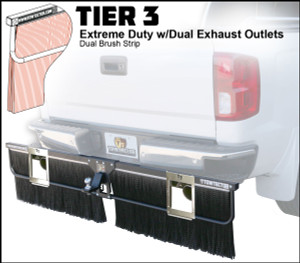 Tier 3 (Extreme Duty Dual Brush Strips With Dual Exhaust Outlets)