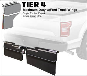 Tier 4 (Maximum Duty Single Rubber Flap and Single Brush Strip With Ford Truck Wings )