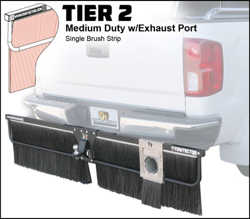 Tier 2 (Medium Duty Single Brush Strip With Single Exhaust Port)
