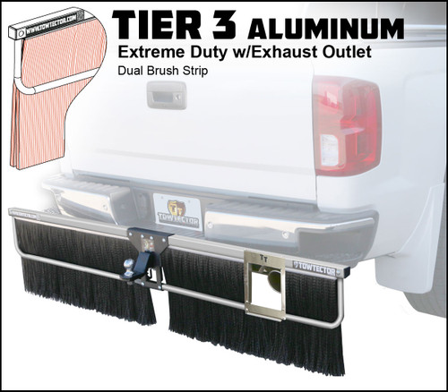 Tier 3 Aluminum (Extreme Duty Dual Brush Strip With Exhaust Outlet)