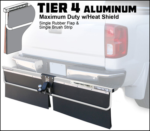 Tier 4  Aluminum (Maximum Duty Single Rubber Flap and Single Brush Strip With Heat Shield)