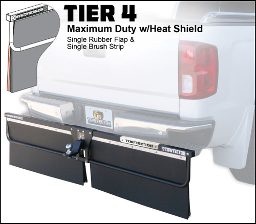 Tier 4 (Maximum Duty Single Rubber Flap and Single Brush Strip With Heat Shield)