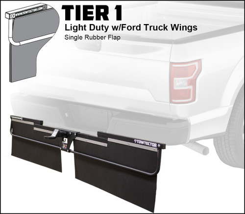 Tier 1 (Light Duty Single Rubber Flap With Ford Truck Wings)