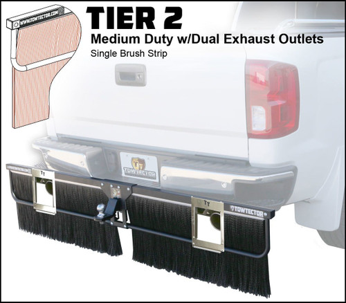 Tier 2 (Medium Duty Single Brush Strip With Dual Exhaust Outlets)