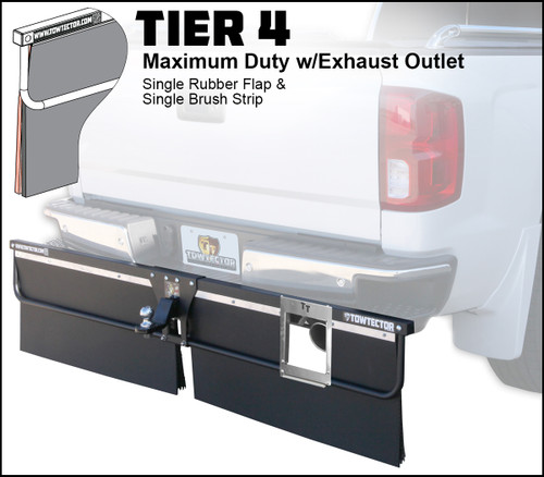 Tier 4 (Maximum Duty Single Rubber Flap With Single Brush Strip With Exhaust Outlet)
