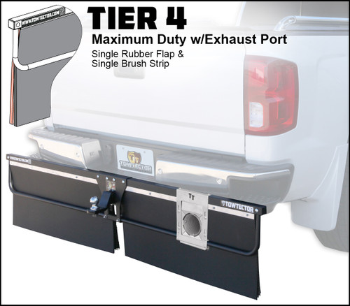 Tier 4 (Maximum Duty Single Rubber Flap With Single Brush Strip With Single Exhaust Port)