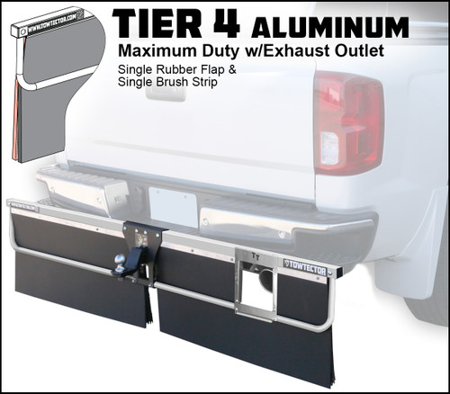 Tier 4 Aluminum (Maximum Duty Single Rubber Flap With Single Brush Strip With Exhaust Outlet)