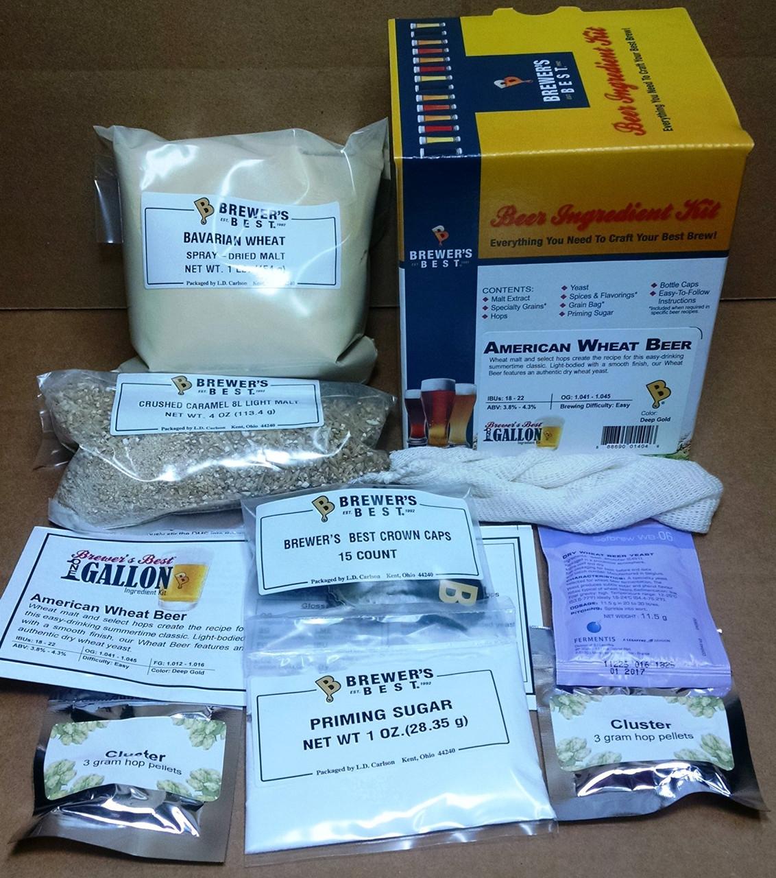 American Wheat Beer Kit - 1 Gallon