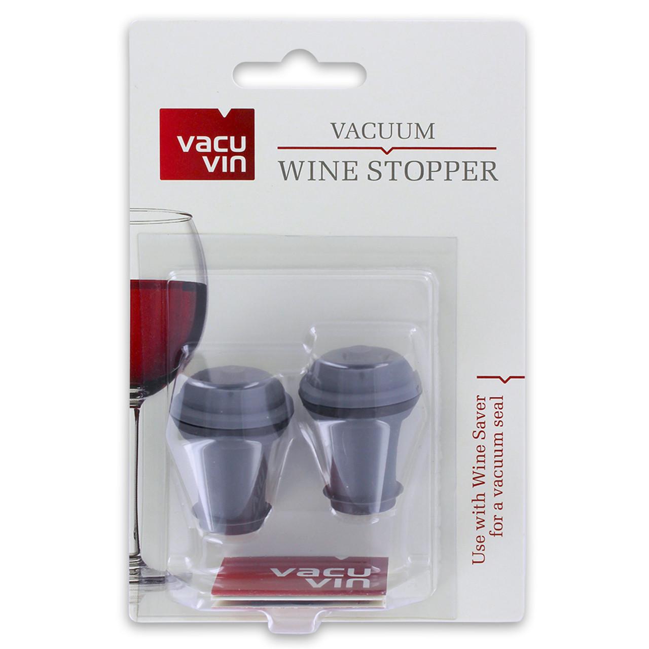 Grey Vacu Vin Wine Saver Vacuum Stoppers Set of 2