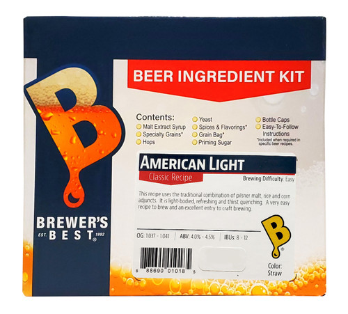 Brewer's Best American Light Beer Kit - 5 Gallon