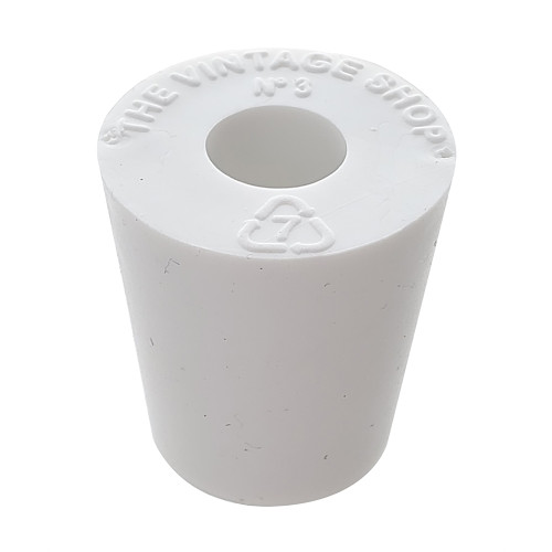Rubber Stopper - Size 3 - Drilled