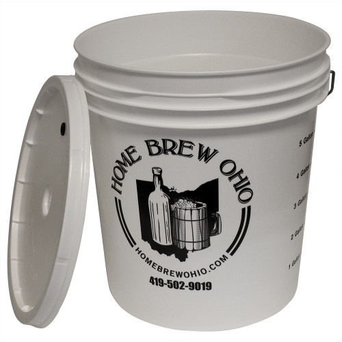 Plastic Fermentor with Drilled Lid - 7.9 Gallon
