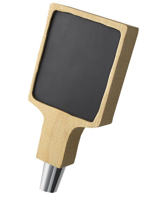 "Rustic Carved Tap Handle - Chalkboard - Short 6"""