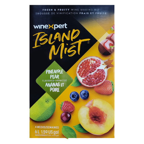 Wine Ingredient Kit - Island Mist Pineapple Pear Pinot Grigio - 6 Gallon