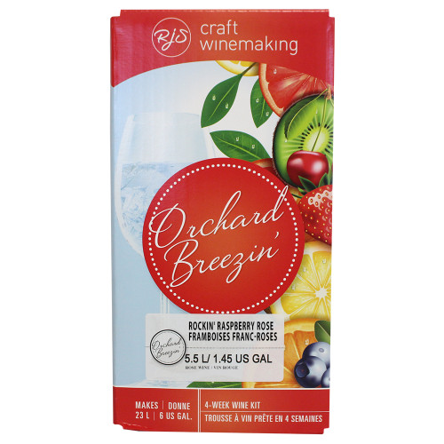 Wine Ingredient Kit - Orchard Breezin Rockin' Raspberry Rose  - 6 Gallon