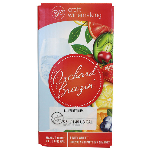 Wine Ingredient Kit - Orchard Breezin Blueberry Bliss - 6 Gallon
