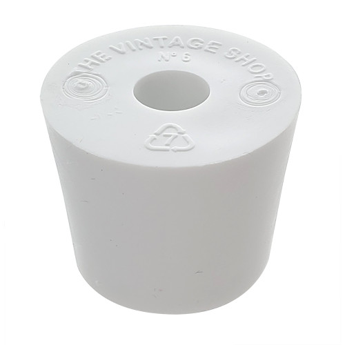 Rubber Stopper - Size 6 - Drilled