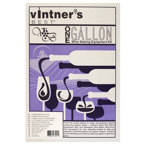 Vintner's Best Wine Making Equipment Kit - 1 Gallon