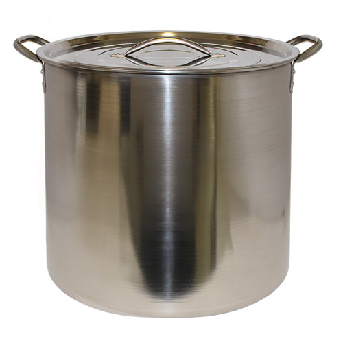 Brew Kettle with Cover - Stainless Steel - 20 Qt