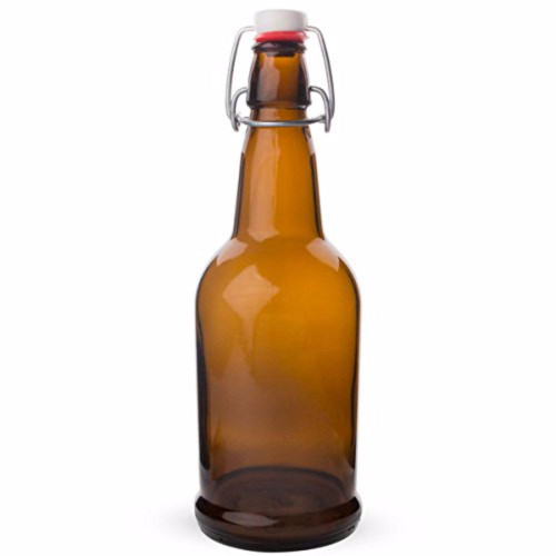 EZ Cap Bottles - Amber Case of 12 - 16 oz