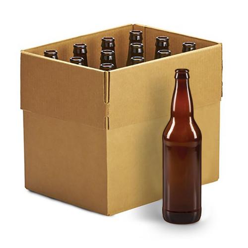 Beer Bottles - 22oz Crown Cap Amber Longneckcase of 12