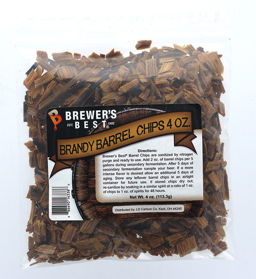 Brewer's Best Barrel Chips - Brandy Barrel - 4 oz