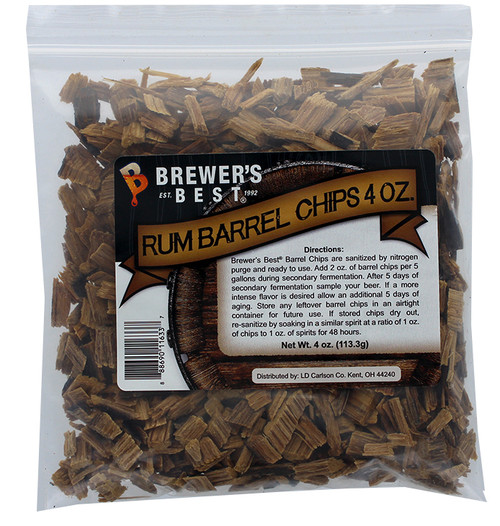 Brewer's Best Barrel Chips - Rum Barrel - 4 oz