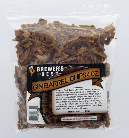 Brewer's Best Barrel Chips - Gin Barrel - 4 oz