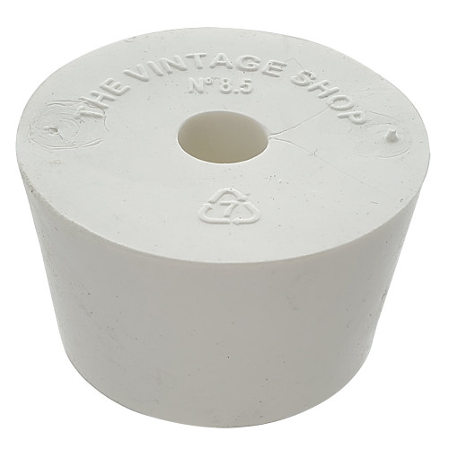 Rubber Stopper - Size 8.5 - Drilled