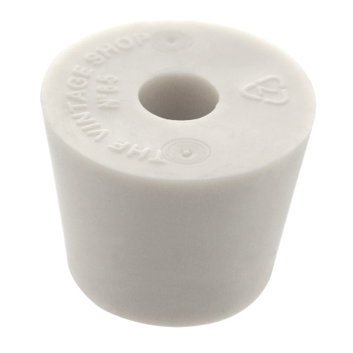 Rubber Stopper - Size 6.5 - Drilled