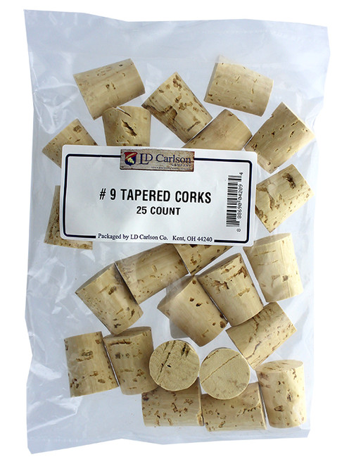 Medium #9 Tapered Corks - Bag of 25