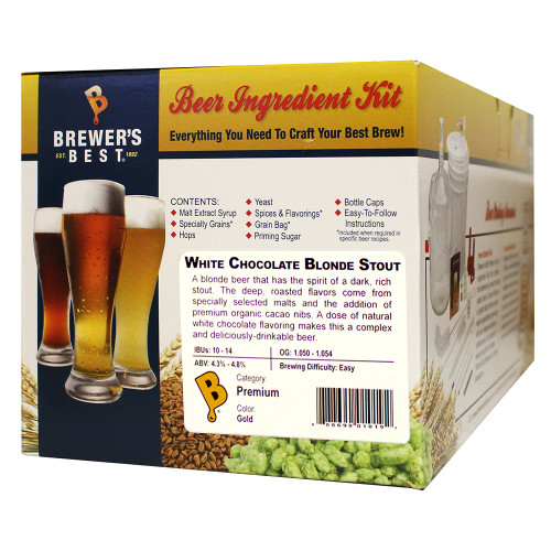 Brewer's Best White Chocolate Blonde Stout Beer Kit - 5 Gallon