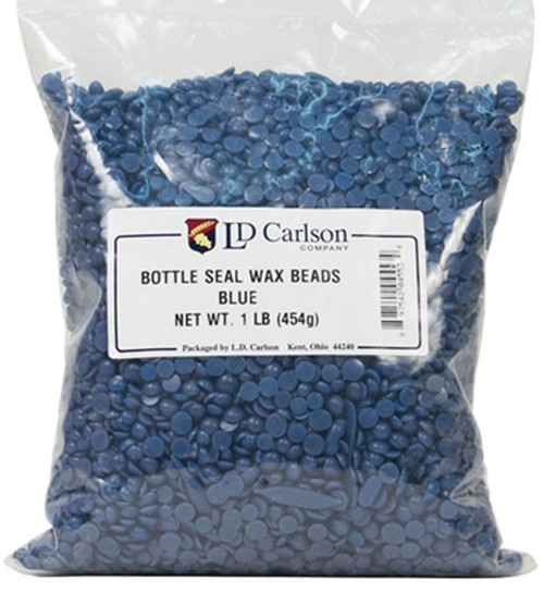 Bottle Seal Wax Beads - Blue - 1 Lb