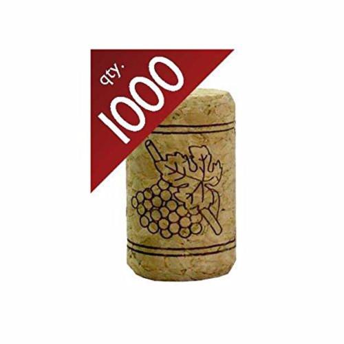 "#9 Straight Corks 15/16"" x 1 1/2"" - Bag of 1000"