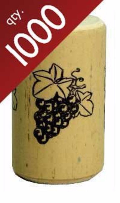"""Nomacorc Synthetic Wine Corks #9 x 1 1/2"""" - Bag of 1000"""