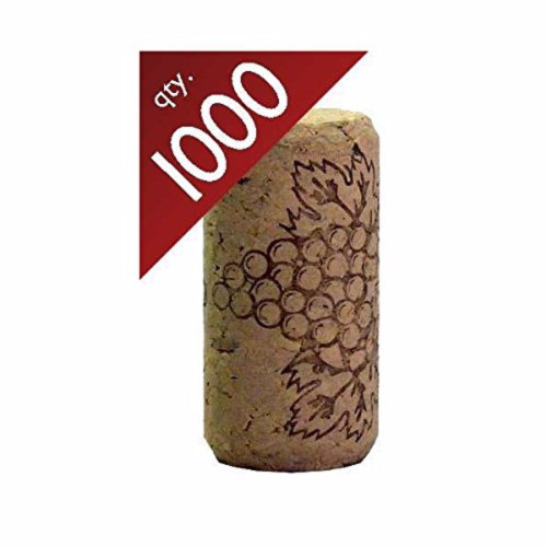 "#8 Straight corks 7/8"" x 1 3/4"" - Bag of 1000"