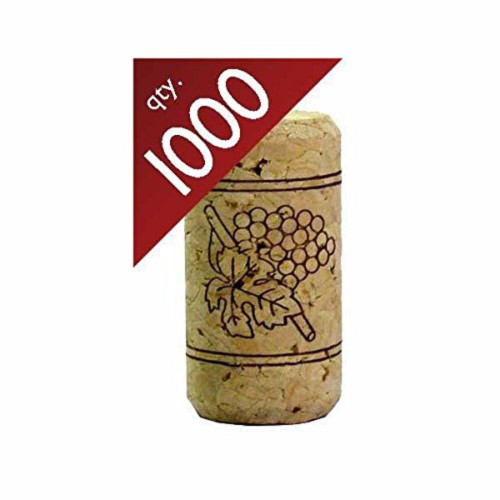 "#9 Straight Corks 15/16"" x 1 3/4"" - Bag of 1000"