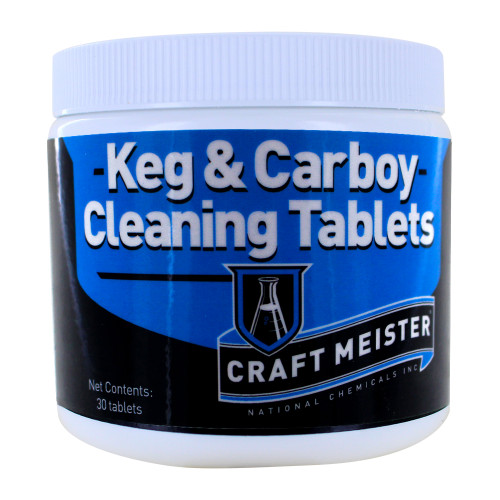 Keg / Carboy Cleaning Tablets - 30 Count