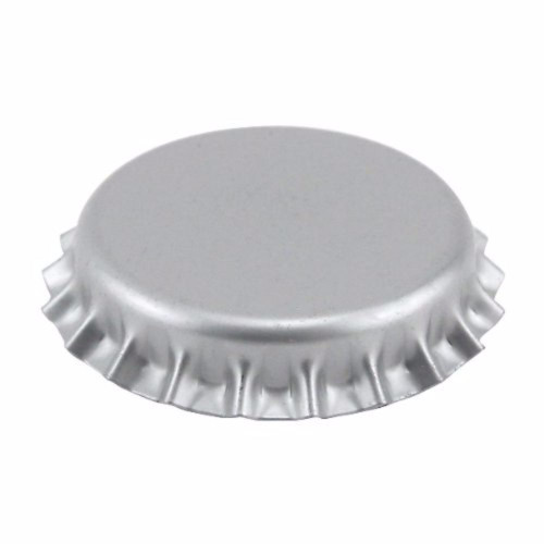 Beer Bottle Crown Caps - Silver