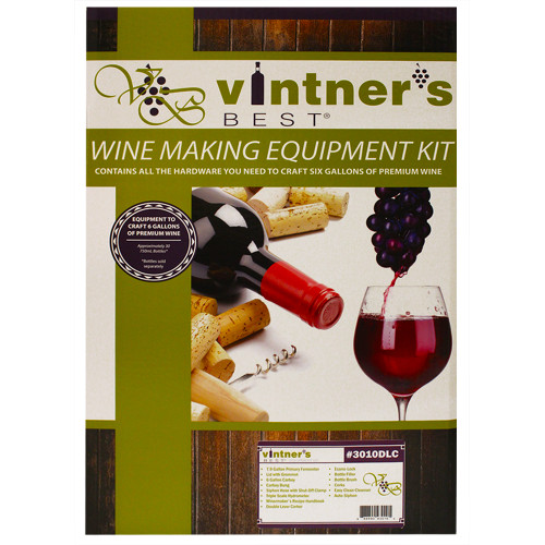 Vintner's Best Wine Equipment Kit with Double Lever Corker