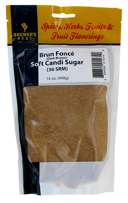 Candi Sugar - Brun Fonce' Soft - 1 Lb