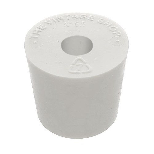 Rubber Stopper - Size 5.5 - Drilled