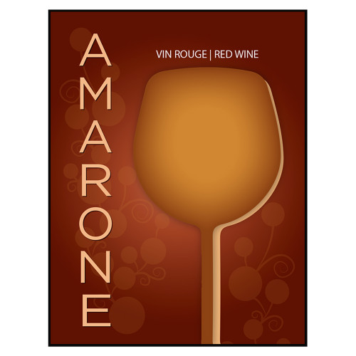 Amarone Self Adhesive Wine Labels 30 count