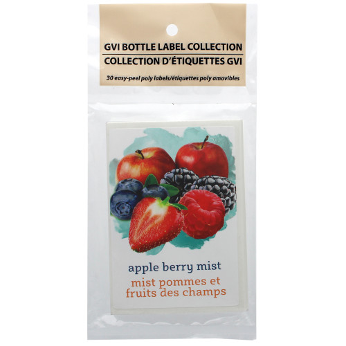 Apple Berry Mist Self Adhesive Wine Labels 30 count