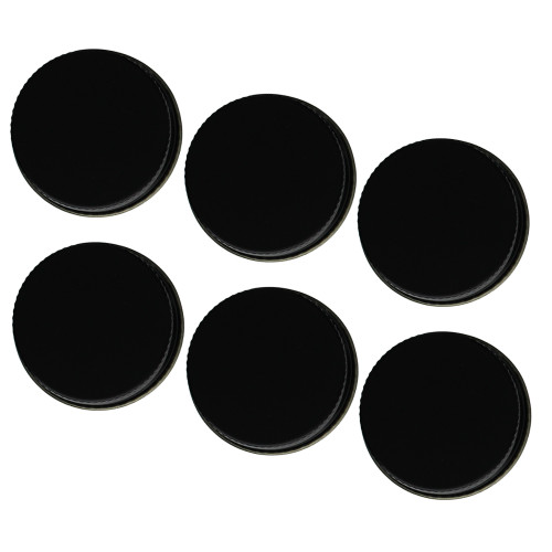 38mm Metal Screw Cap Black (Fits most 1/2 & 1 gallon jugs) 6 count