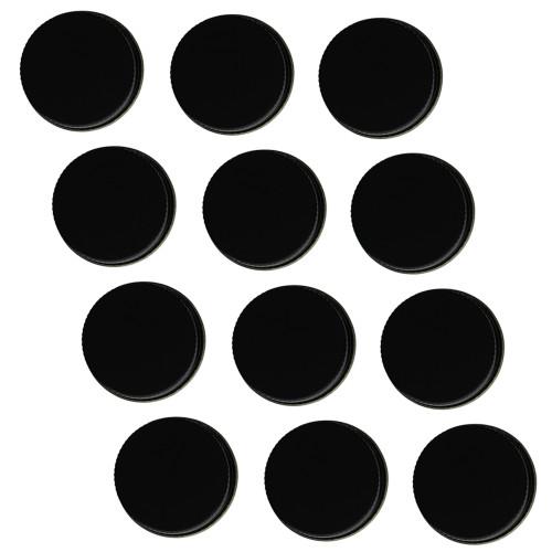 38mm Metal Screw Caps Black (12)