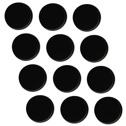 38mm Metal Screw Caps Black (12)