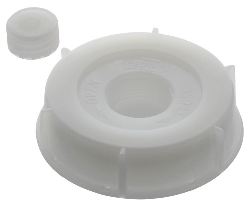 Replacement Caps For 5 Gallon Plastic Hedpack - 1 Large Cap And 1 Small Cap