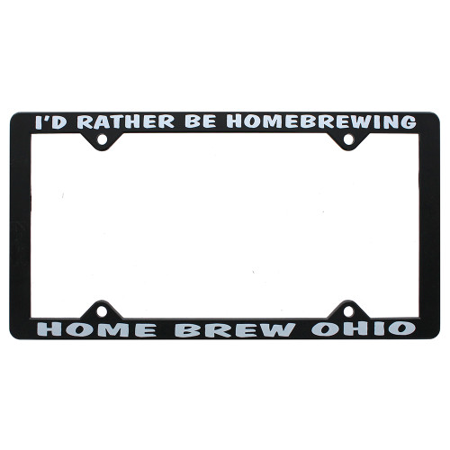 """I'd Rather Be Homebrewing"" License Plate Frame"